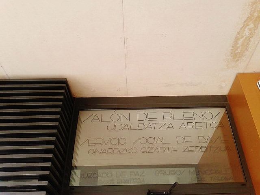 Entrada al Servicio Social de Base del Ayuntamiento del Valle de Egüés