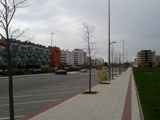 Avenida de la Unión Europea en Sarriguren