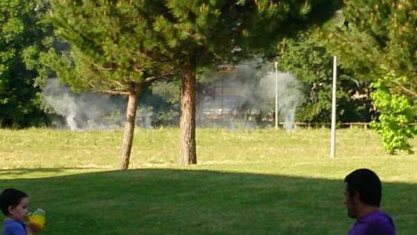 Incendio en Sarriguren