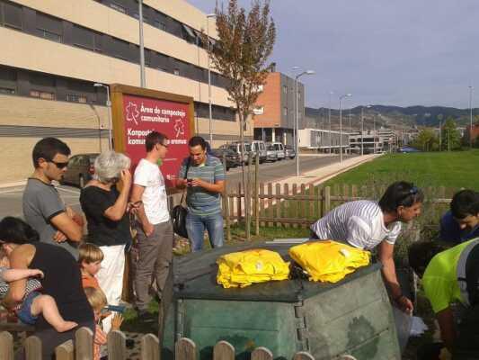 compostaje en Sarriguren