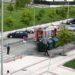 Los bomberos tienen que intervenir en un conato de incendio producido en un contenedor en Sarriguren